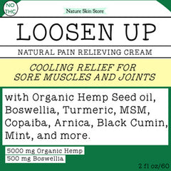 Loosen Up Natural Muscle and Joint Cream with Hemp, Boswellia, MSM and Essential Oils