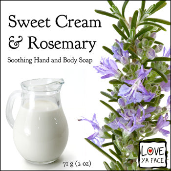 Sweet Cream and Rosemary - Body Bar Soap