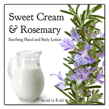 Sweet Cream and Rosemary Soothing Hand and Body Lotion
