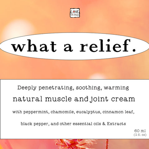 What a Relief. Gentle Warming Muscle and Joint Gel Cream