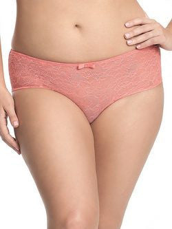 Pure Lace High Waist Brief CORAL
