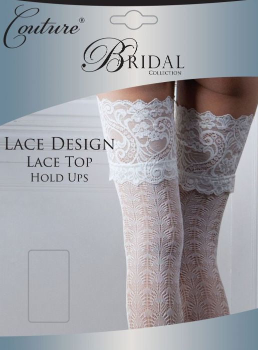 Bridal Soft Sheer Lace Top Stockings 15 Denier White /& Ivory by Couture
