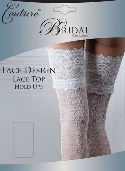 Couture Bridal Lace Design Lace Top Hold Ups