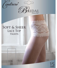 Couture Bridal Soft & Sheer Lace Top Tights