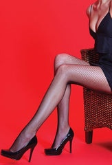 Silky Scarlet Fishnet Tights