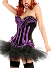 Cupped Ruffle Corset with Zip