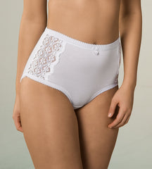 Cotton & Lace Full Brief WHITE