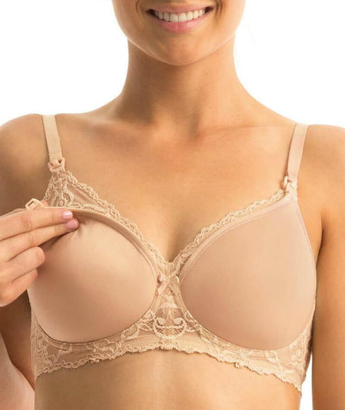 Gorgeous Mama Lace N  Bra NUDE front show