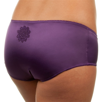 Ornamental Bliss Satin Hipster Brief