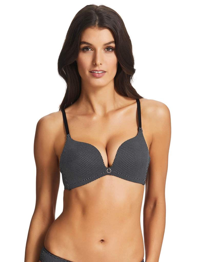 Sleek Wirefree Push Up Bra POLKA DOT