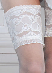 Couture Bridal soft & sheer lace top stay-up stockings