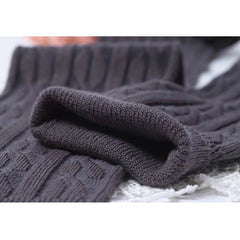 Cotton Blend Over the Knee Sock (Cable Knit)