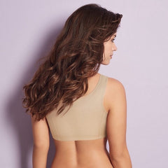 Bestform 531 Cotton Front Fastening Wire Free Bra