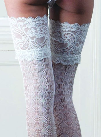 fe4dd1d3409 Couture Bridal Lace Design Lace Top Hold Ups ...