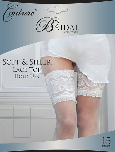 6ef6ed2c580b3 Couture Bridal soft & sheer lace top stay-up stockings – aBrasKadaBras