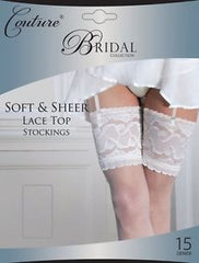 Couture Bridal soft & sheer lace top stockings