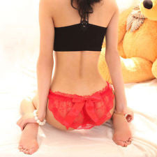 Lace G-string with bow-knot