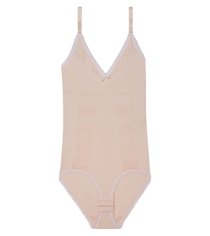 Lacey And Seamless Bodysuit CREAM TAN / ROSE WATER