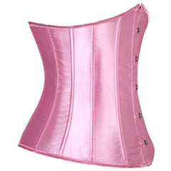Satin Cincher with Steel Busk