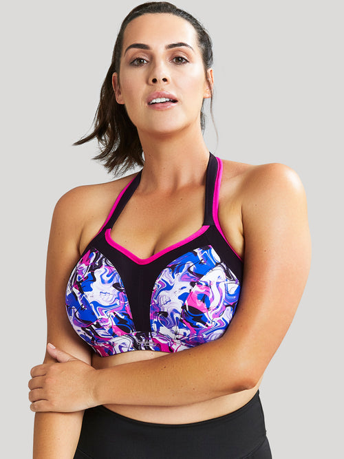 Sculptresse Sports Balconnet Bra - LIQUID WAVES