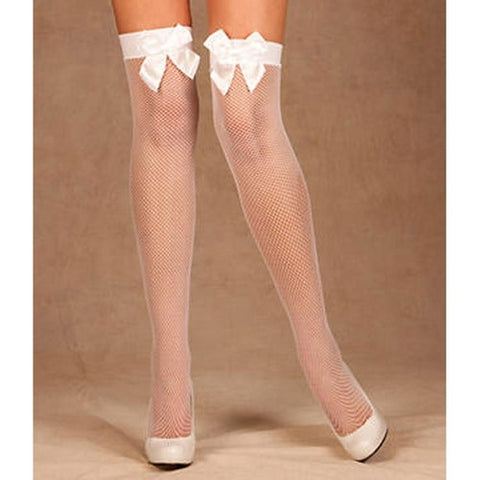 Fishnet Stockings with BOW