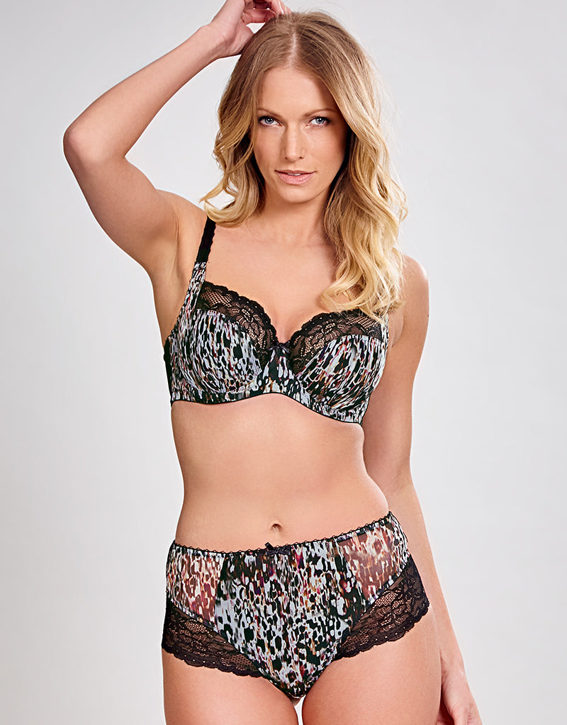 Jasmine Balconnet Bra ANIMAL BLACK