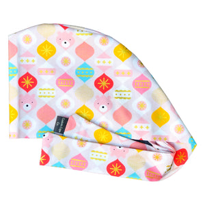 Bear Ornaments on Pink with Metallic Gold | Pixie