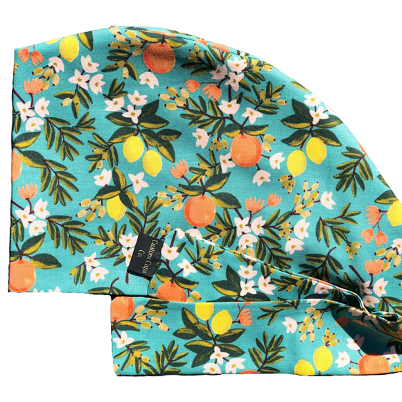 Citrus Blossoms on Teal | Pixie