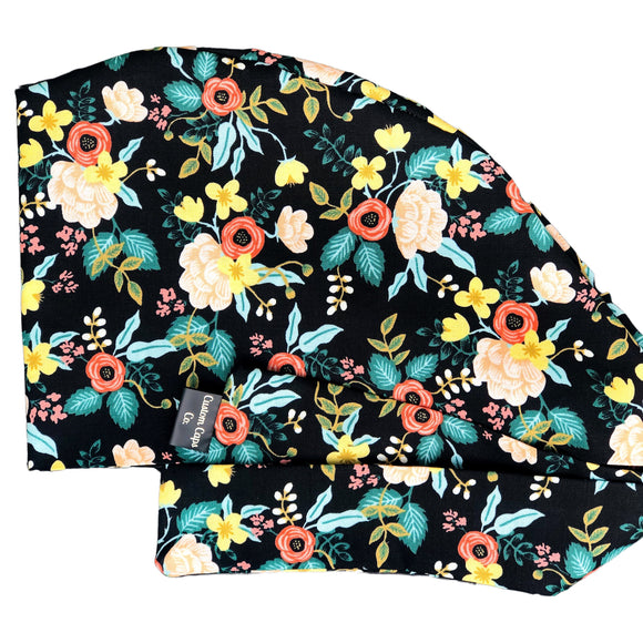 Vintage Florals on Black | Pixie