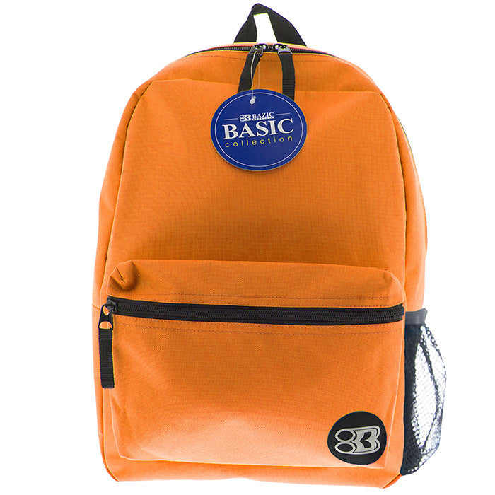 "16"" Orange Basic Backpack"