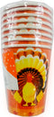TOM TURKEY Cups 9oz. 8 ct , Case Pack of 60 , Ideal for Bulk Buyers