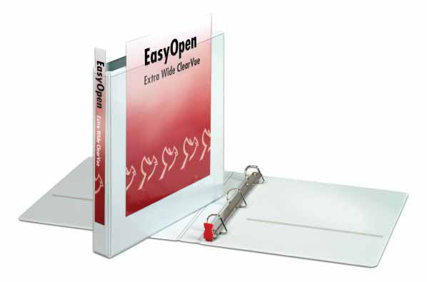"CARDINAL 1"" Easy Open Binder, White. Extra-wide , Case Pack of 12 , Ideal for Bulk Buyers"