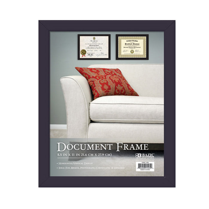 "8.5"" X 11"" Multipurpose Document Frame w/ Glass Cover"