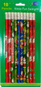 10pk Pencils Fun XMAS Designs , Case Pack of 72, Ideal for Bulk Buyers