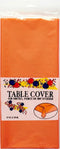 "Plastic Tablecover, 54"" x 108"", ORANGE , Case Pack of 48 , Ideal for Bulk Buyers"
