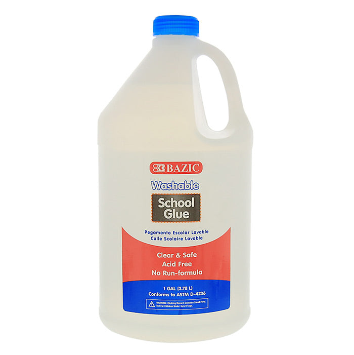 1 Gallon Washable Clear School Glue