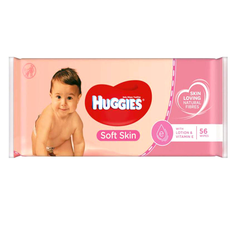 Huggies Baby Wipes 56ct, Lotion & Vitamin E, Case Pack of 10, Ideal for Bulk Buyers