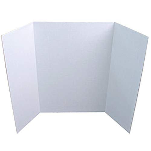 "Project/Presentation Board, White, 40"" x 28"", Case Pack of 18, Ideal for Bulk Buyers"