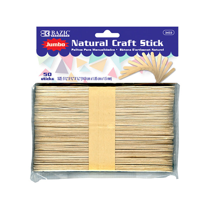 Jumbo Natural Craft Stick (50/Pack)