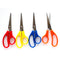"5"" Scissors , Point Tip, Assorted Colors,  Case Pack of 500, Ideal for Bulk Buyers"