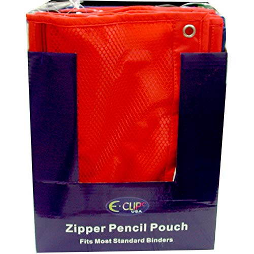 Mesh Zipper Pouch, Single Zipper, Asst Colors in Display, Case Pack of 48, Ideal for Bulk Buyers
