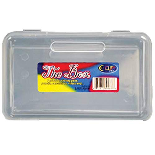 "Pencil Box,""The Box"", Clear, Case Pack of 48, Ideal for Bulk Buyers"