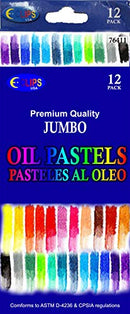 Oil Pastels, Jumbo, 12 pk, Case Pack of 48, Ideal for Bulk Buyers