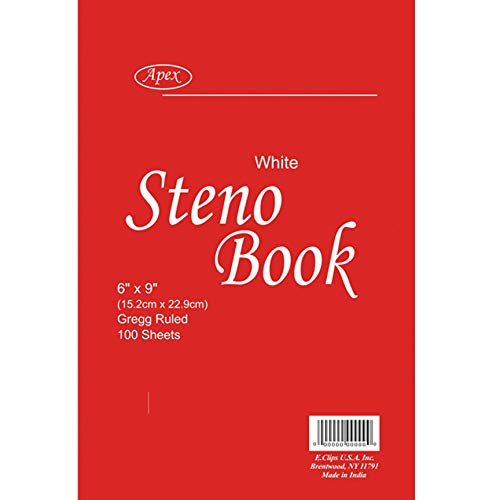 "Steno Book, 6"" x 9"", 100 sheets, Gregg Ruled, Case Pack of 48, Ideal for Bulk Buyers"