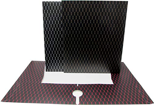 AUKSales 4 Pockets Folders, Honeycomb Design : Gold, Silver, Burgundy, No Holes ,Case Pack of 48, Ideal for Bulk Buyers
