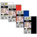 Poly cover 3 subject notebook 150 sheets with 6 pockets, Wide Ruled, Case Pack of 24, Ideal for Bulk Buyers