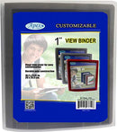 "1"" View Binders, Black, Navy, red, Grey, Case Pack of 36, Ideal for Bulk Buyers"