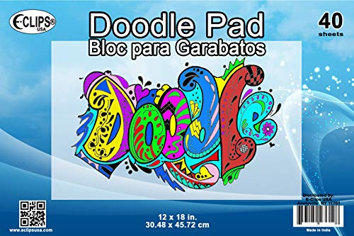 "AUKSales Doodle Pad, 12""x 18"", 40 Sheets, Case Pack of 36, Ideal for Bulk Buyers"