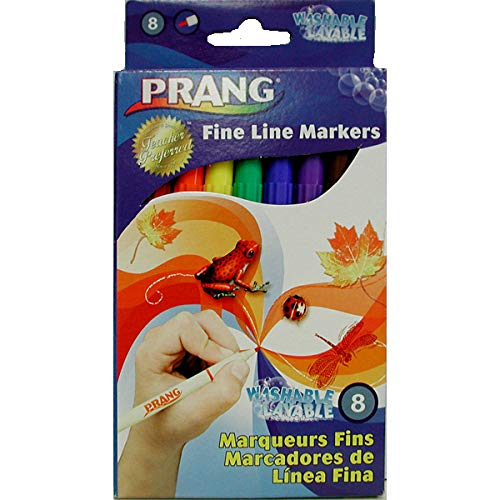 AUKSales Prang Washable Fine Line Markers 8ct, Case Pack of 72, Ideal for Bulk Buyers