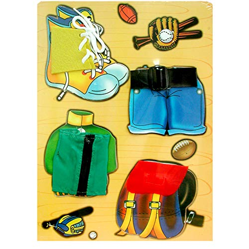 Childrens Wooden Puzzles, Asst. Dress-up Designs, Case Pack of 48, Ideal for Bulk Buyers